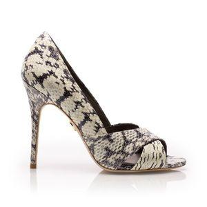 Tory Burch Amira Roccia Snakeskin Pump Sandals 5
